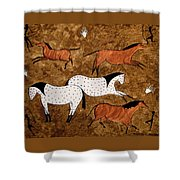Cave Horses Shower Curtain