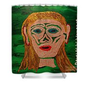 Cave Lady Shower Curtain