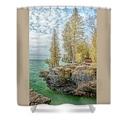 Cave Point Bluffs 2 Shower Curtain