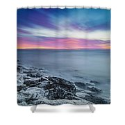 Cave Point Sunrise Shower Curtain