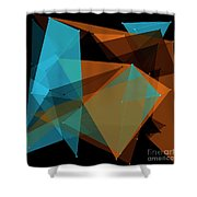 Cave Polygon Pattern Shower Curtain