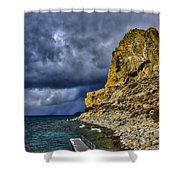 Cave Rock Color Shower Curtain