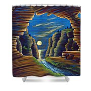 Cave With Cliffs Shower Curtain