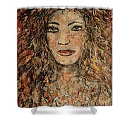 Cave Woman Shower Curtain