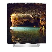 Caved Shower Curtain
