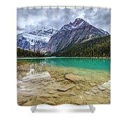 Cavell Lake Jasper Shower Curtain
