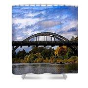 Caveman Bridge Shower Curtain