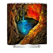 Cavernous Pool In Ambiance Shower Curtain