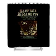 Caverns And Rabbits Shower Curtain