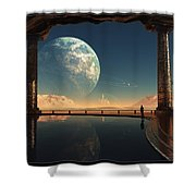 Caves Of Tau Ceti Shower Curtain