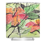 Cayenas Atrapadas  Hibiscus Shower Curtain