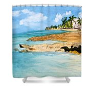 Cayman Shoreline Shower Curtain
