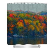Cayuga Autumn Shower Curtain