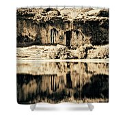 Columbia Basin Abstract Shower Curtain