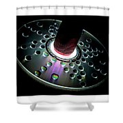 Cd Droplets Shower Curtain