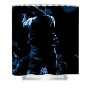 Cdb Winterland 12-13-75 #11 Enhanced In Blue Shower Curtain