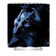 Cdb Winterland 12-13-75 #51 Enhanced In Blue Shower Curtain