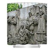 Cebu Carvings Shower Curtain