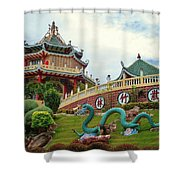 Cebu Taoist Temple Shower Curtain