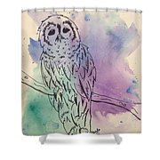 Cecil The Sad Owl Shower Curtain