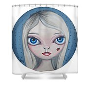 Cecilia And The Ladybug Shower Curtain