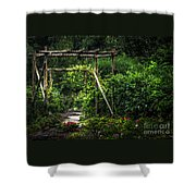 Cedar Arbor Shower Curtain