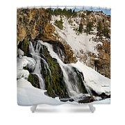 Cedar Creek Falls Winter Shower Curtain
