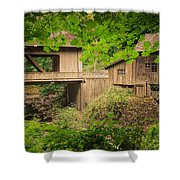 Cedar Creek Mill And Covered Bridge Shower Curtain