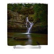 Cedar Falls 2 - Hocking Hills Ohio Waterfall Shower Curtain
