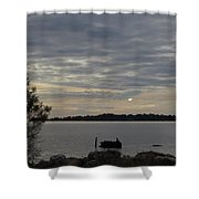 Cedar Key Moonrise Shower Curtain