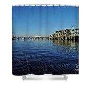 Cedar Key Pier Shower Curtain