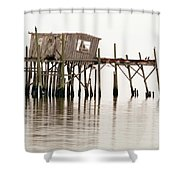 Cedar Key Structure Shower Curtain by Patrick M Lynch