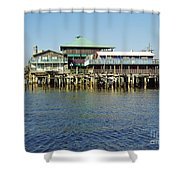 Cedar Key Waterfront Shower Curtain