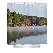 Cedar Lake Reflection Shower Curtain