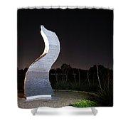Cedar Park Sculpture Flame Shower Curtain