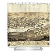 Cedar Rapids Iowa 1868 Shower Curtain