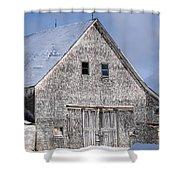 Cedar Shake Barn Shower Curtain