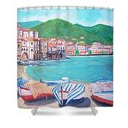 Cefalu In Sicily Shower Curtain