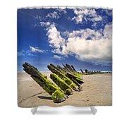 Cefn Sidan Beach 3 Shower Curtain