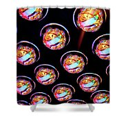 Ceiling Lights Shower Curtain