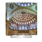 Ceiling Of Blue Mosque Shower Curtain