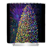 Celebrate In Lights Shower Curtain