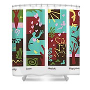 Celebrate Life 4 Panels Shower Curtain
