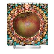 Celebrate The Apple Shower Curtain