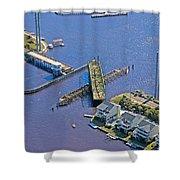 Celebrate The Swing Bridge Shower Curtain