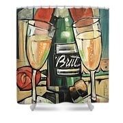 Celebrate With Bubbly Shower Curtain
