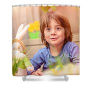 Celebrating Easter Holiday Shower Curtain