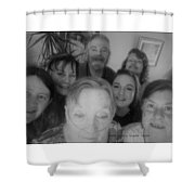Celebrating With Friends Shower Curtain