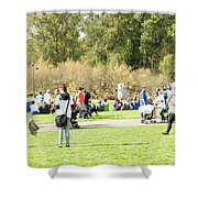 Celebration Of Life In Colorful Skirts Shower Curtain