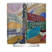 Celebration Town Directional Shower Curtain